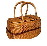 Пикниковая сумка-корзина из лозы