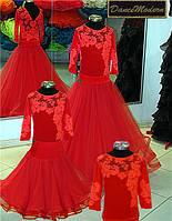 Платье для бальных танцев - бейсик. Red-fat