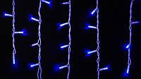Гирлянда наружная бахрома Delux ICICLE 75 LED синий\белый, фото 1