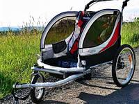 Guto Прицеп, коляска 2 в 1 + возможность Joggera green/light gray
