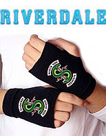 Митенки перчатки без пальцев Южные Змеи Ривердейл Riverdale Sounthside Serpents