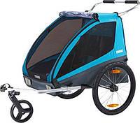 Thule THULE Coaster XT двойной прицеп велосипедный для ребенка - синяя - 872299042678