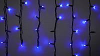 Гирлянда наружная бахрома Delux ICICLE 75 LED синий\черный
