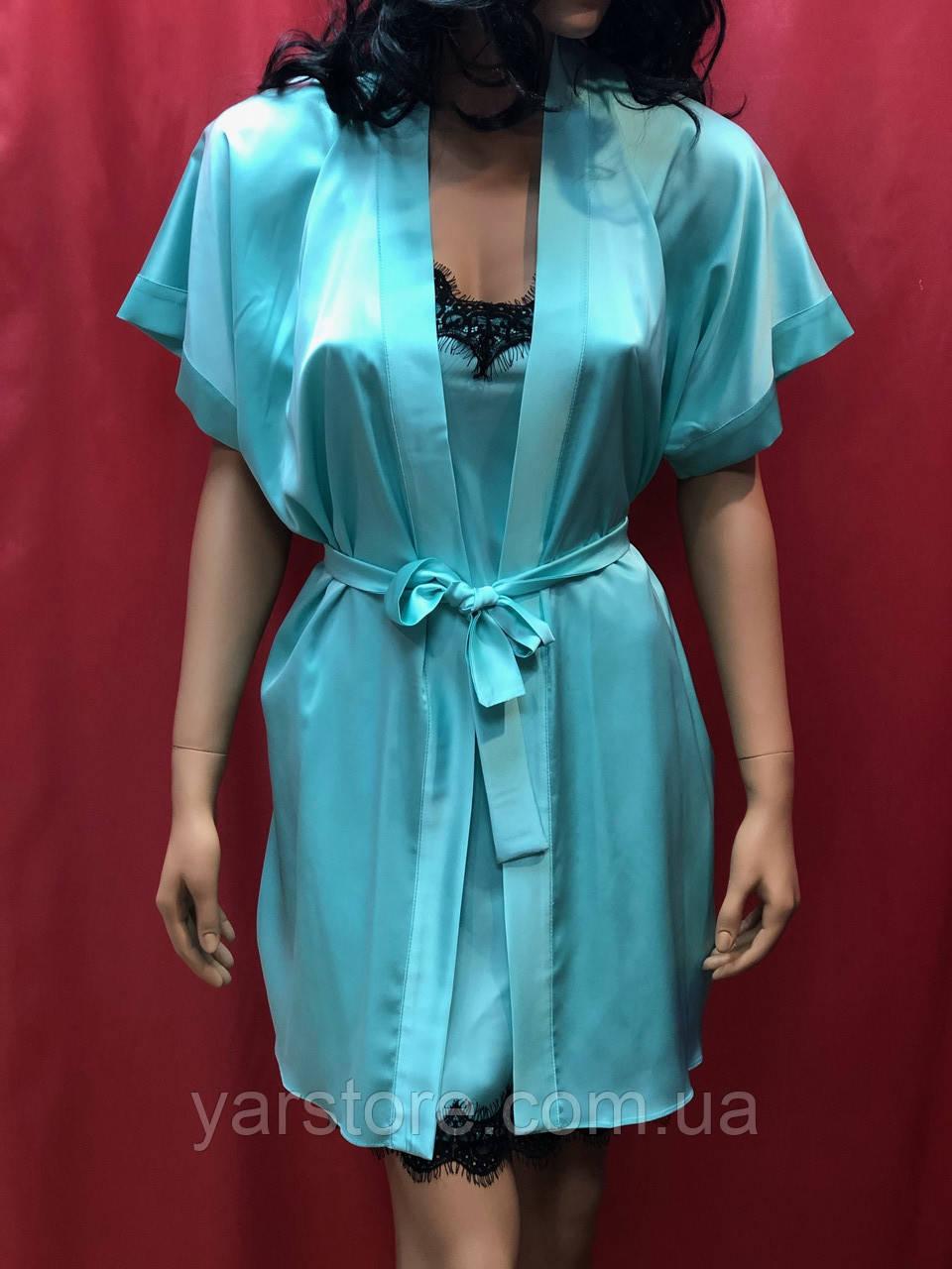 fea4536c6a6a3cd Комплект шелковый ночнушка с халатом, цена 760 грн./комплект, купить ...