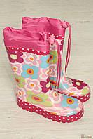 Резиновые сапоги в розовые цветочки (28 размер)  No name 2129000336112