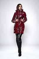 Зимняя женская молодежная куртка. Код К-139-71-19. Цвет бордо.