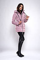 Зимняя женская молодежная куртка. Код К-138.82-37-19. Цвет пудра.
