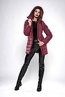 Зимняя женская молодежная куртка. Код К-138.82-37-19. Цвет бордо.