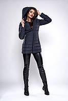 Зимняя женская молодежная куртка. Код К-138.82-37-19. Цвет темно синий.