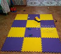 Модульное напольное покрытие в детскую комнату (12 элементов)