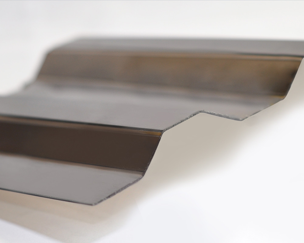 Профилированный монолитный поликарбонат ТМ Borrex 0.8мм 105х200см бронза