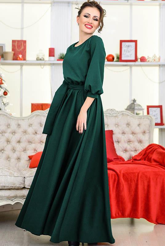 """Модне довга сукня """"Ванесса"""", смарагдове"""