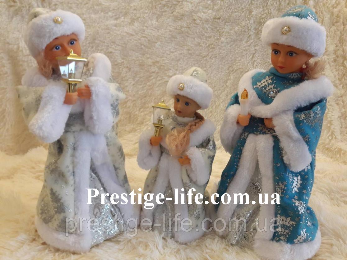 Снегурочка 40 см музыкальная игрушка (танцующий и поющий)
