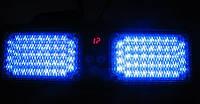 Стробоскоп проблесковый маячок на козырек синий Led Visor Strob (7843)