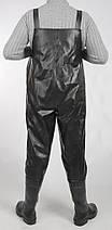 Полукомбинезон рыбацкий ПВХ (вейдерсы) DS черный, фото 2