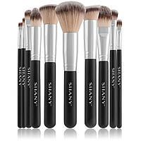 Подарочный набор кистей для макияжа shany black ombré pro 10 pc