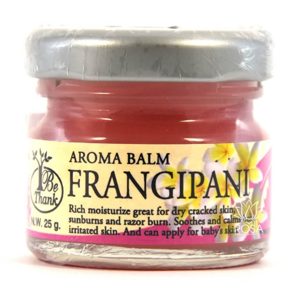 Цветочный бальзам для массажа и ухода за кожей Франжипани (Aroma Balm Frangipani, Be Thank), 30 грамм