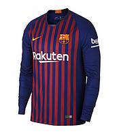 Футбольная форма Барселоны с длинным рукавом (основная), сезон 2018/2019
