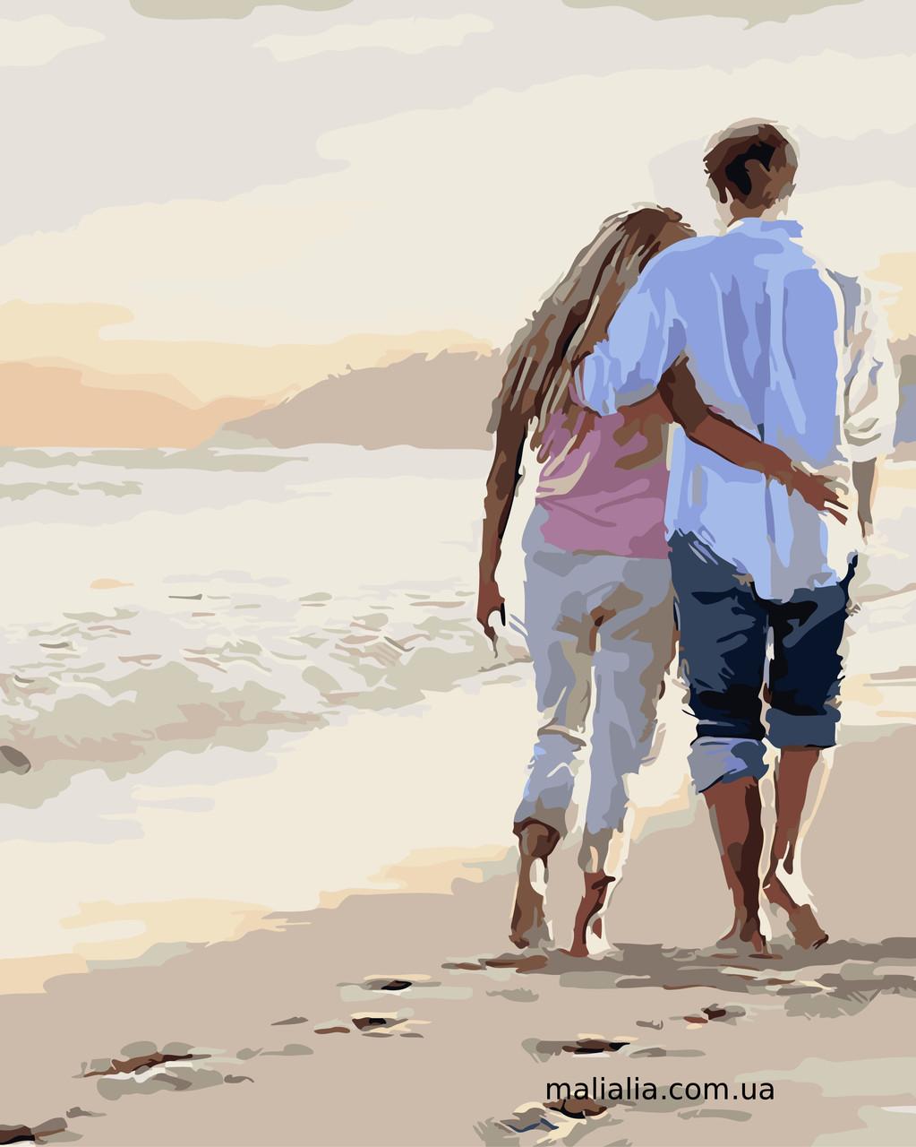 Картины по номерам 40*50 см В КОРОБКЕ Прогулка по пляжу Artstory