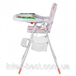 Детский стульчик для кормления Bambi M 0405-2 (розовый), фото 2