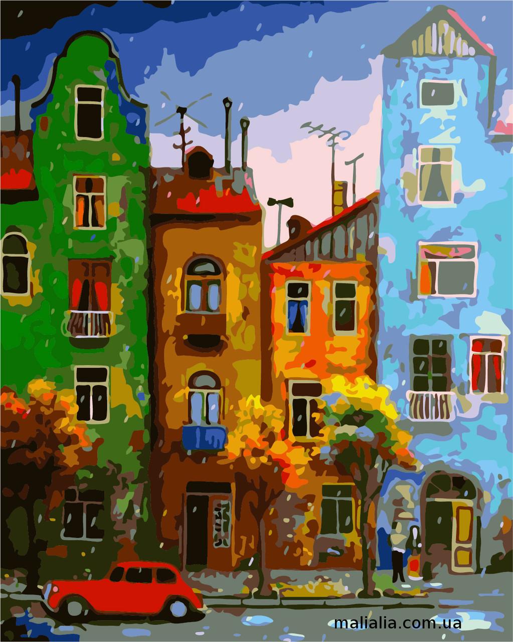 Картины по номерам 40*50 см В КОРОБКЕ Цветная улица Artstory