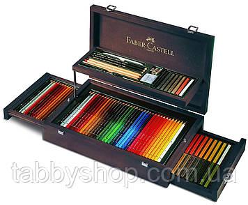 Набор для рисования Faber Castell ART&GRAPHIC 110086 в красной деревянной коробке (3х36 цв.)