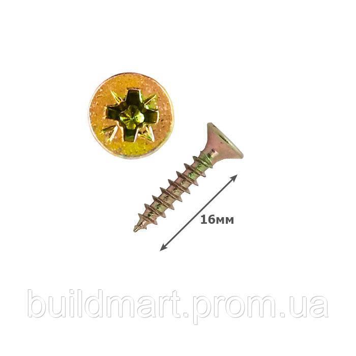 Шуруп универсальный желтый 3х16 (1000шт.)