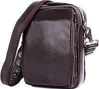 94eaf3608e9e Мужская маленькая сумка через плечо Vintage 14544 кожаная Коричневая  (Натуральная кожа)