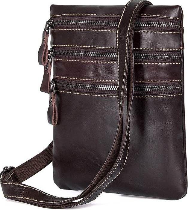 3a20fb1cca7 Мужская сумка через плечо Vintage 14554 кожаная Коричневая (Натуральная  кожа) - Онлайн - супермаркет