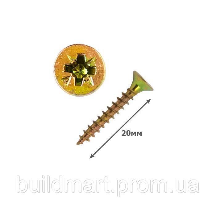 Шуруп универсальный желтый 3х20 (1000шт.)
