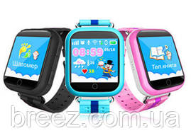 Детские умные часы с GPS Smart Baby Watch Q100s сенсорный экран, розовые, фото 3