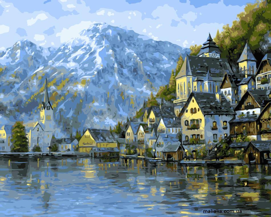 Картины по номерам 40*50 см В КОРОБКЕ Прекрасная Австрия Artstory