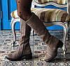 Сапоги женские зимние замшевые на каблуке Marcella