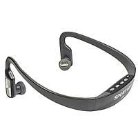 ☀Мощные спортивные наушники Lesko TX-508 Black для тренировок с аккумулятором MP3 FM картой памяти