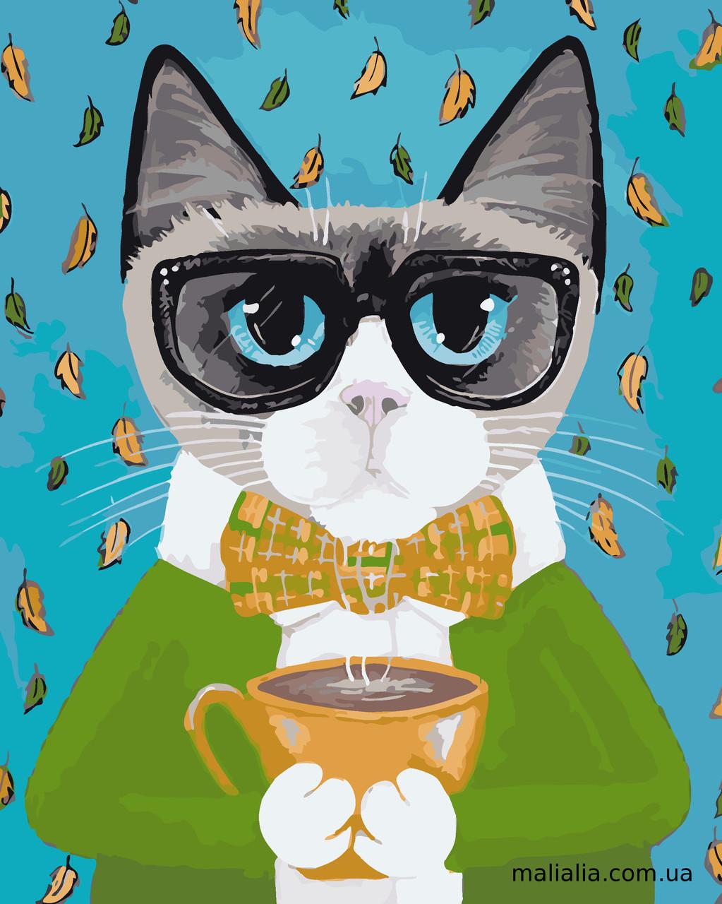Картины по номерам 40*50 см В КОРОБКЕ Деловой кот Artstory