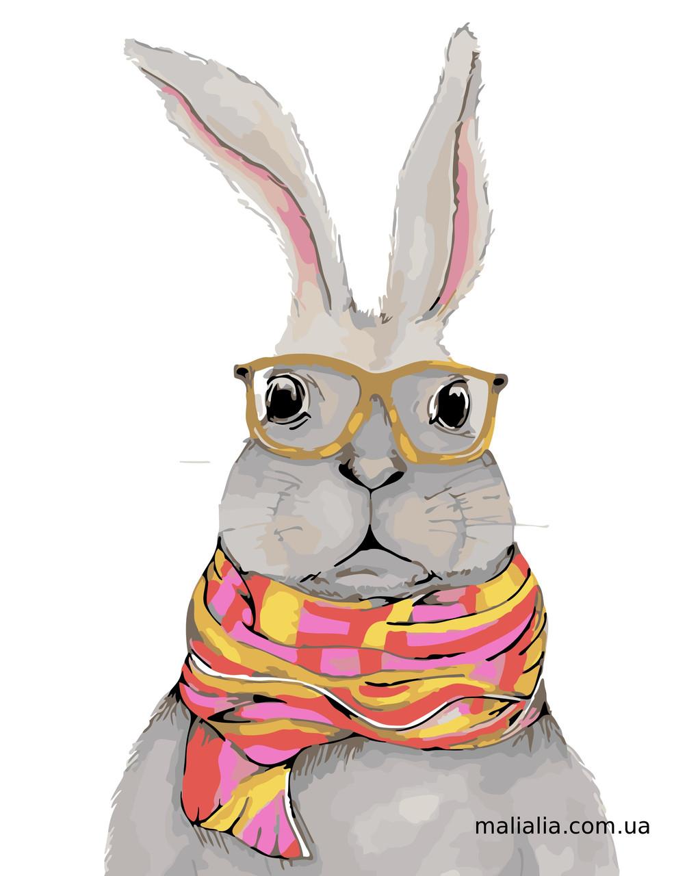 Картины по номерам 40*50 см В КОРОБКЕ Белый кролик Artstory