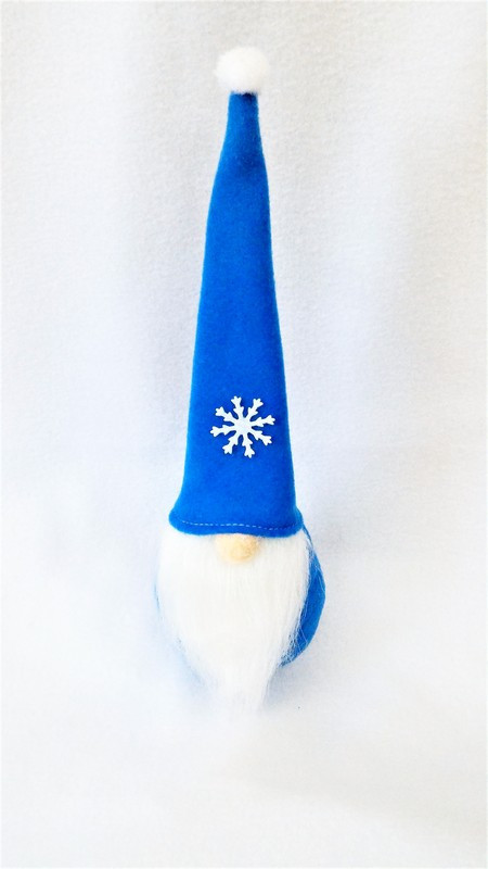 Гном новогодний голубой 28,5 см