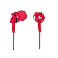 Навушники вакуумні провідні без мікрофона Hapollo EP-2020 Red, фото 1
