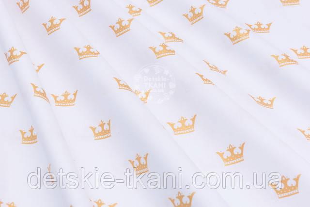 Бязь с золотистыми коронами
