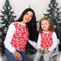 Новогодний Комплект! Зимний Свитшот  мама дочка , доста вка по Украине