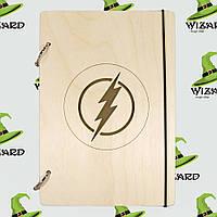 Скетчбук с деревянной обложкой А5 не лак Флеш, фото 1