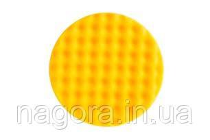 Жовтий поролоновий полірувальний диск MIRKA 150 мм, рельєфний, жовтий