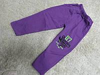 Спортивные штаны на девочку теплые фиолетовые на 5 лет