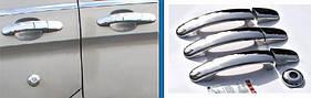 Накладки на ручки ( 3 двери, нерж.) - Ford Custom 2013+ гг.