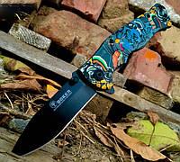 Складной полуавтоматический нож Boker B048 с принтом, фото 1