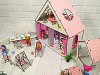 Домик для LOL LITTLE FUN + обои + шторки + мебель + текстиль +лестница + ДВОРИК