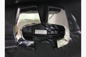 Накладки на зеркала (2 шт, пласт) - Ford Custom 2013+ гг.