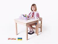 """Стол-парта с фотопечатью """"Украинский алфавит"""" SP-1.41 Венге светлый (ТМ Вальтер)"""