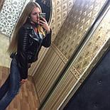 """Женская модная куртка из кожзама (эко-кожа) """"Молния"""", фото 4"""