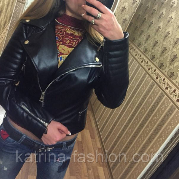 0773825da134 Женская модная куртка из кожзама (эко-кожа)